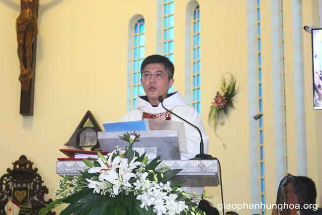 Cha Giuse Nguyễn Thiết Thắng chia sẻ trong Thánh lễ
